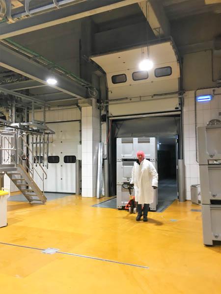 Installatie RVS afwatering in slachthuis