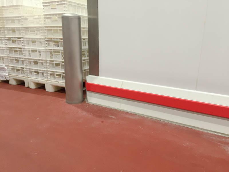Installatie aanrijbeveiling voor euobin karren