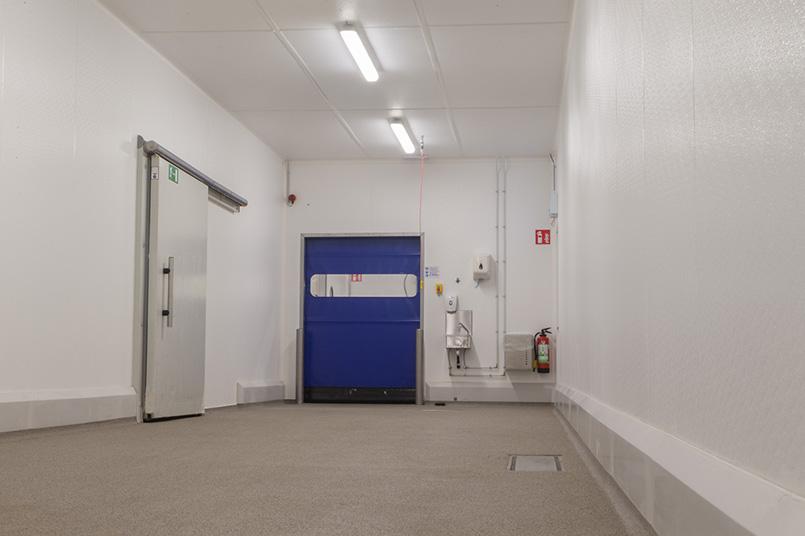 Hygiënische renovatie corridor in catering afdeling